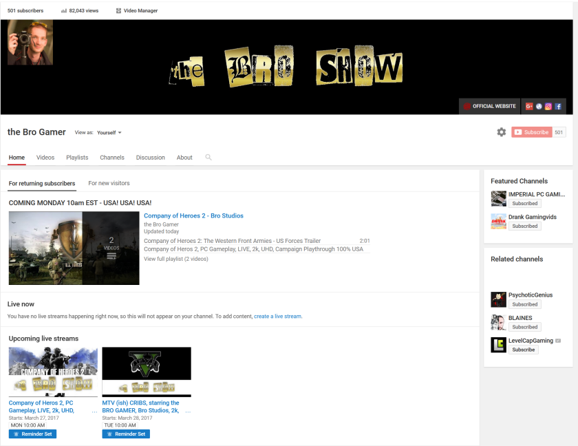501 subs 82000 views