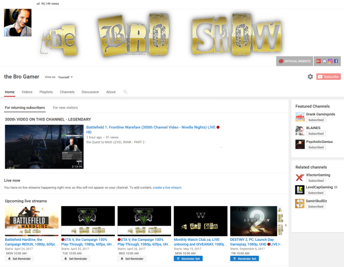 90,000 VIEWS on the BRO SHOW!